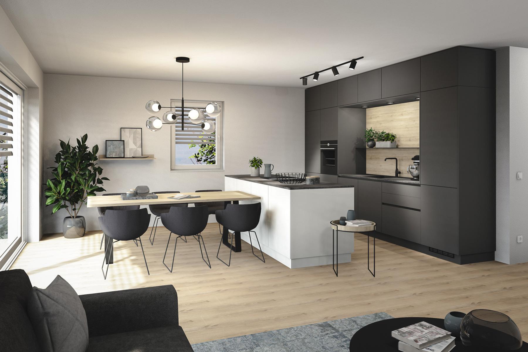 Kueche-Visualisierng-Wohnungsprojekt