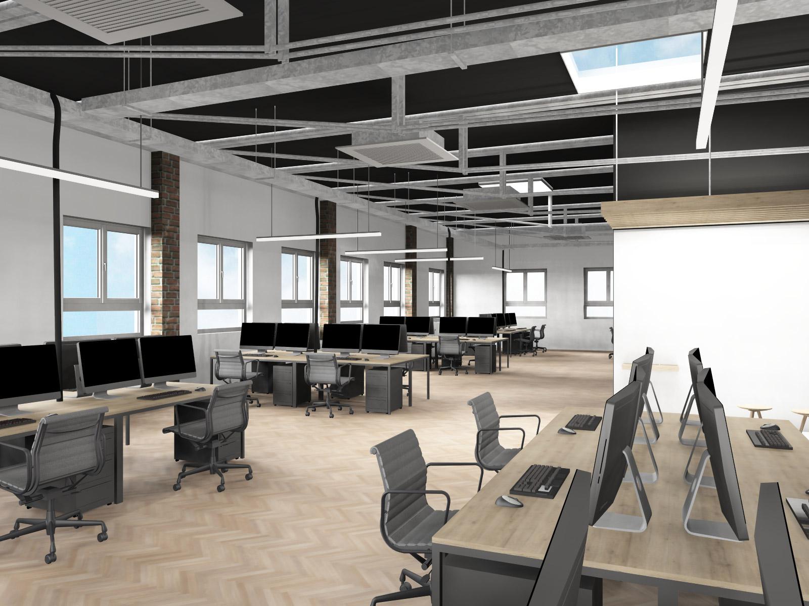 Büro-industrial look-office